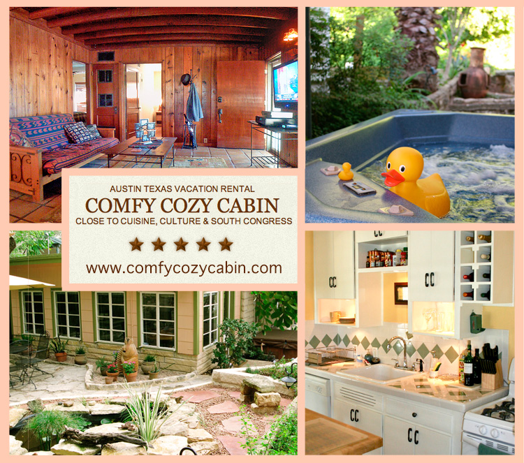Comfy cozy cabin an austin texas vacation rental a for Austin cabin rentals